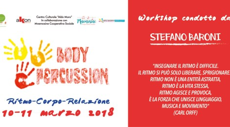 Body Percussion workshop 10 e 11 marzo 2018