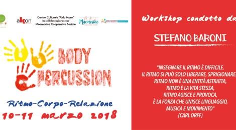 Body Percussion workshop 10 e 11 marzo 2018