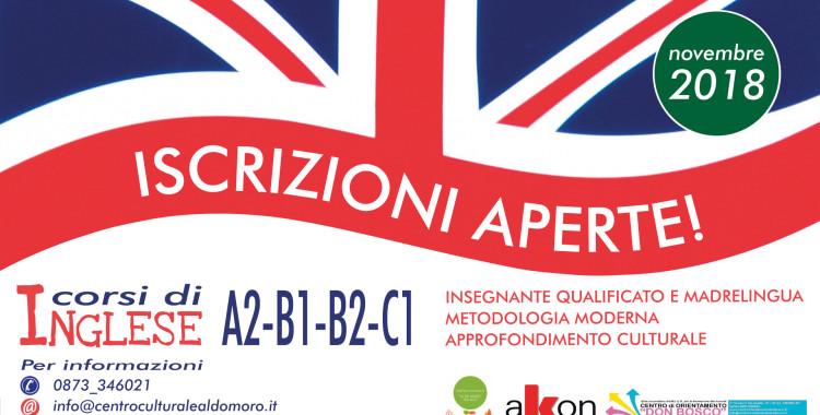 Corsi di Inglese: livelli A2, B1, B2, C1 con Vincent Ricca