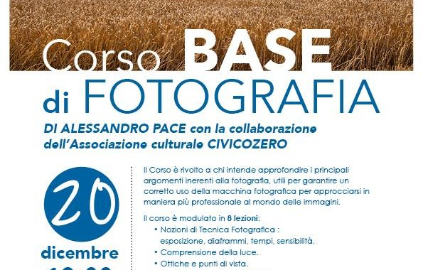 Corso Base di Fotografia con Civico Zero e Alessandro Pace